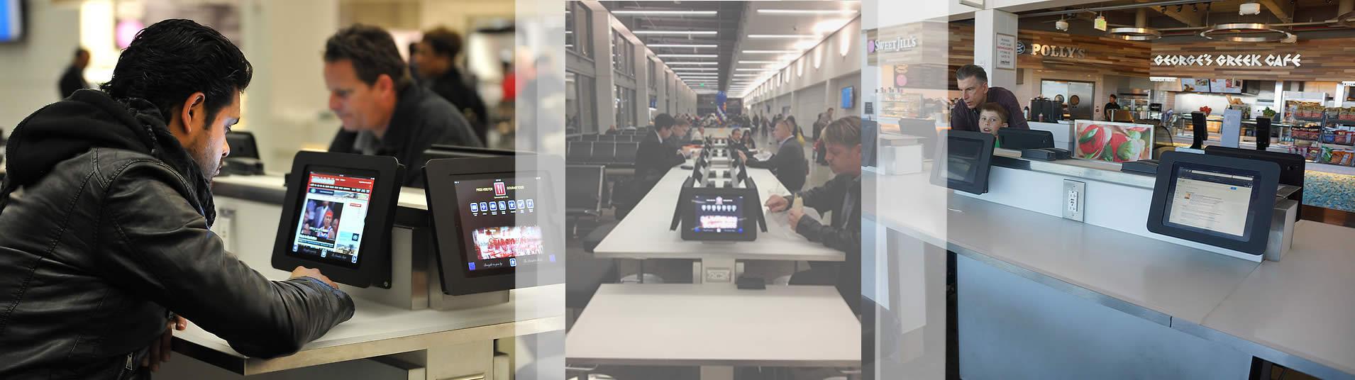 ipad-standaard-wandhouders-luchthaven